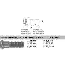 Perno Rueda Chev / GM Blazer 7/16 X 33 UNF Estria 11.7