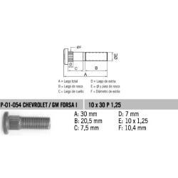 Perno Rueda Forza Uno 10 X 30 X 1.25 Estria 10.4
