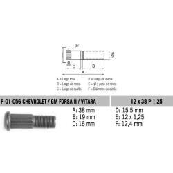 Perno Rueda Vitara-Forza2 12 X 38 X 1.25 Estria 12.4