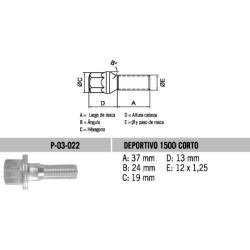 Perno Conico Fiat Deportivo 12 X 37 X 1.25 Hex 19