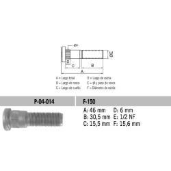 Perno Rueda Ford F-150 1/2 X 46 UNF Estria 15.6