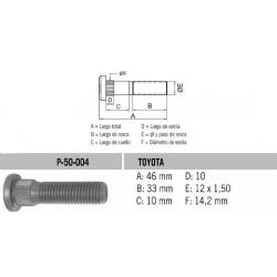 Perno Rueda Toyota D-Max-Luv 12 X 46 X 1.50 Estria 14.3