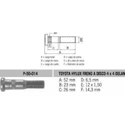 Perno Rueda Land Cruiser 12 X 52 X 1.50 Estria 14.3