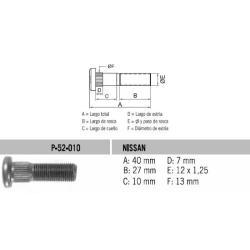 Perno Rueda Nissan Sentra 12 X 40 X 1.25 Estria 13