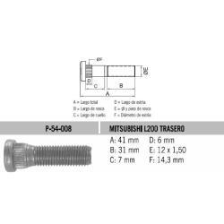 Perno Rueda L-200-Luv Tras 12 X 41 X 1.50 Estria 14.3