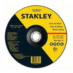 Disco Corte Para Metal-Inox Tipo 27 Stanley 4-1/2 X 1/16 X 7/8